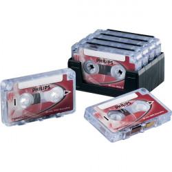 Mini cassette Philips - 30 minuti - rosso (conf.10)