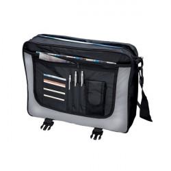 Borsa tascapane Wave Lightpak - 46 x35 x12 cm - nero/grigio